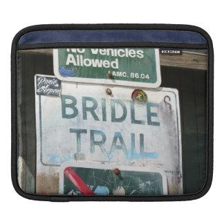 Bridle Trail Sign iPad Sleeve