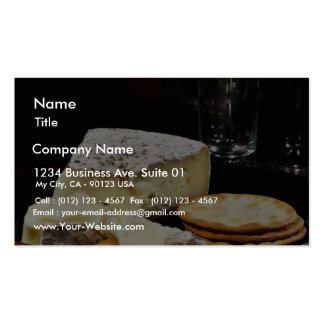 Brie Cheese And Crackers Business Cards
