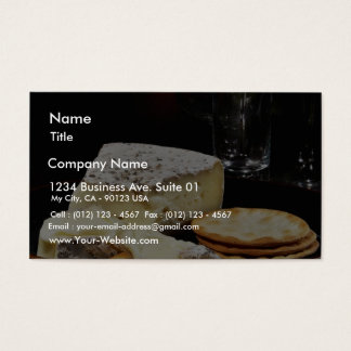 Brie Cheese And Crackers Business Card