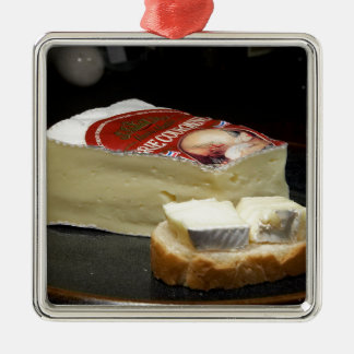 Brie Cheese Design Christmas Ornament