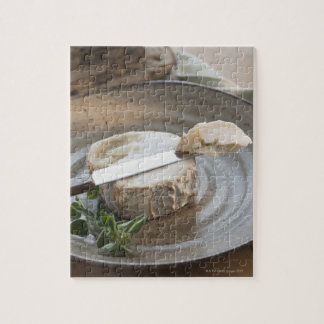Brie cheese on plate jigsaw puzzle