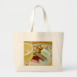 Brie Cheese Salmon Smoked Pate Crackers Champagne Tote Bags
