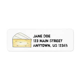 Brie Cheese Wedge Return Address Labels