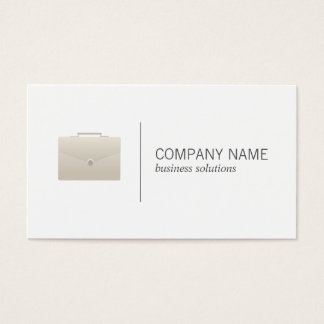 Briefcase | Business (white) Business Card