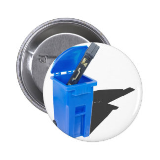 BriefcaseInRecyclingBin061315.png 6 Cm Round Badge