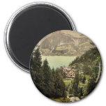 Brienz Lake, Hotel Giessbach, Bernese Oberland, Sw Refrigerator Magnet