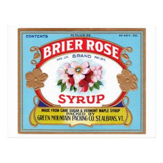 Brier Rose Vintage Syrup Label Post Cards