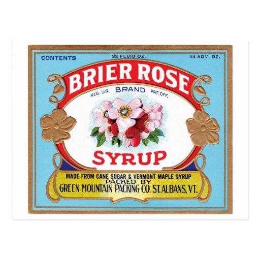 Brier Rose Vintage Syrup Label Postcards