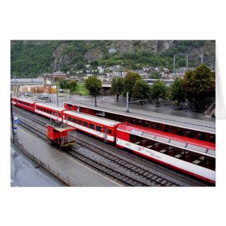 Brig station in Switzerland Card