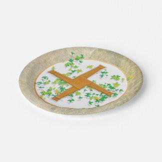 Brighid Cross 7 Inch Paper Plate