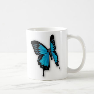 Brighly Hued Blue Butterfly Coffee Mug