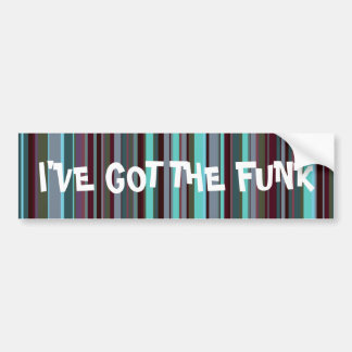 Bright 60s Retro Stripes Bumper Sticker