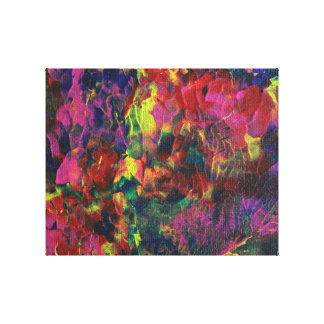 Bright Abstract Art, Colour Delight 201226 Stretched Canvas Print