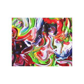 Bright Abstract Art, Colour Delight 201296 Gallery Wrapped Canvas