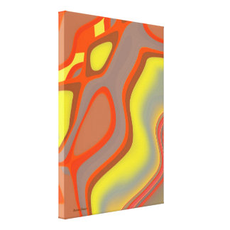 Bright Abstract Canvas Canvas Print