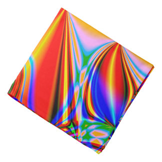 Bright Abstract Design Blue Red And Green Bandana