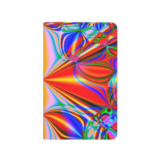 Bright Abstract Design Blue Red And Green Journal