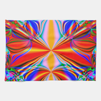 Bright Abstract Design Blue Red And Green Tea Towel