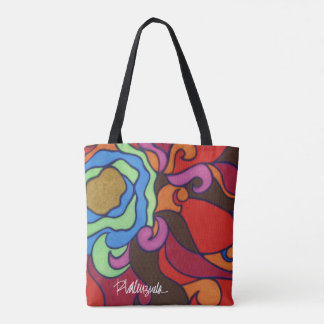 Bright Abstract Floral Tote