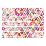 Bright Abstract Floral Triangles Pastel Pattern Pack Of Chubby Business Cards