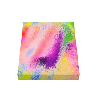 Bright abstract fractals (18x24) Wrapped Canvas Gallery Wrap Canvas