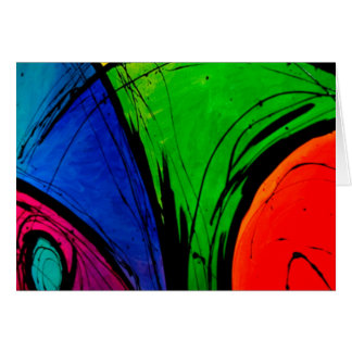Bright Abstract Groovy Art Card