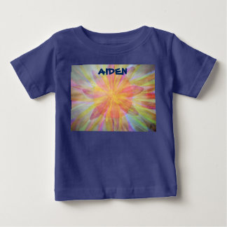 Bright, abstract, kaleidoscope watercolor baby T-Shirt