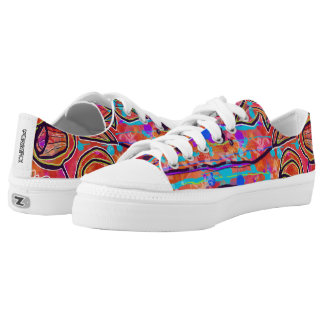 Bright Abstract Shoes Printed Shoes