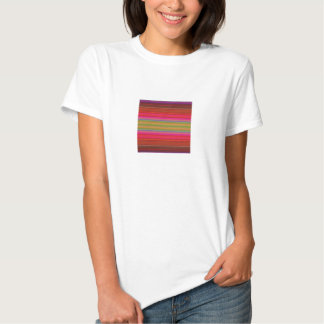 Bright Abstract Stripe Tee Shirt
