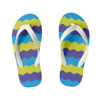 Bright Abstract Waves Flip Flops