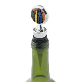 Bright Abstract Wine Bottles Wine Stopper
