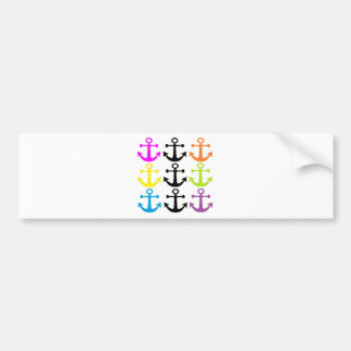 Bright Anchors Bumper Sticker