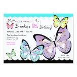 Bright and Beautiful Butterfly Invitation 13 Cm X 18 Cm Invitation Card