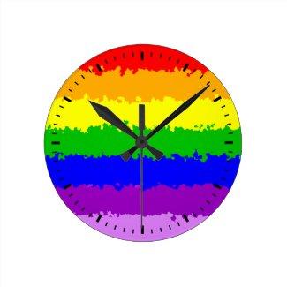 Bright and beautiful Rainbow Round Clock