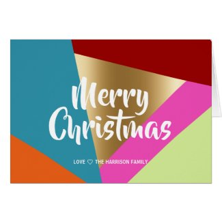 BRIGHT AND BOLD COLOR BLOCKS | CHRISTMAS CARD