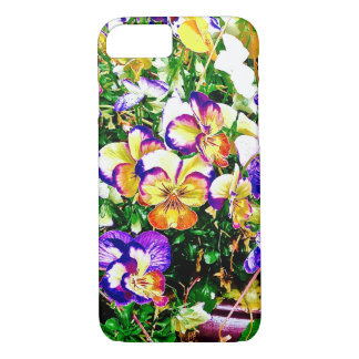 Bright and Bold Pansies iPhone 7 Case