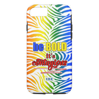 Bright and Bold Rainbow Zebra Print iPhone 8/7 Case