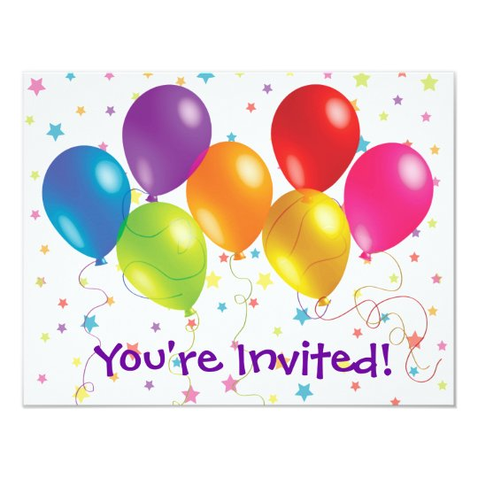 Bright and Cheery Birthday Invitation