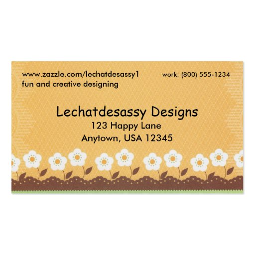 Bright and cheery business card