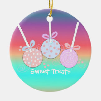 Bright and Cheery Cake Pops Christmas Ornament