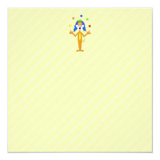 Bright and Colorful Cartoon Dog Juggling. Card