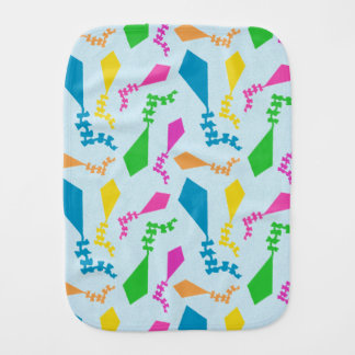 Bright and Colorful Flying Kites Pattern Burp Cloth