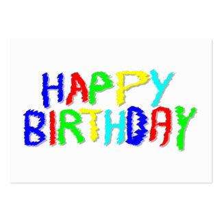 Bright and Colorful. Happy Birthday. Pack Of Chubby Business Cards