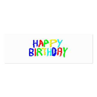 Bright and Colorful. Happy Birthday. Pack Of Skinny Business Cards