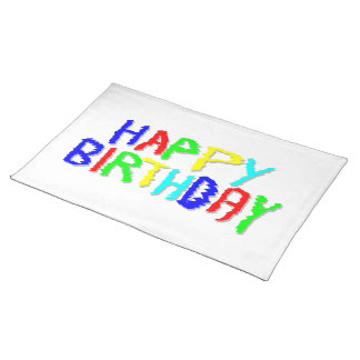 Bright and Colorful. Happy Birthday. Placemat