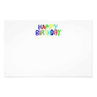 Bright and Colorful. Happy Birthday. Stationery
