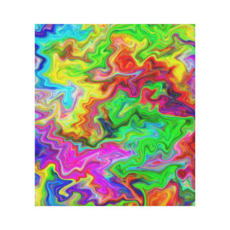 Bright and Colorful Multi Pattern. Stretched Canvas Print