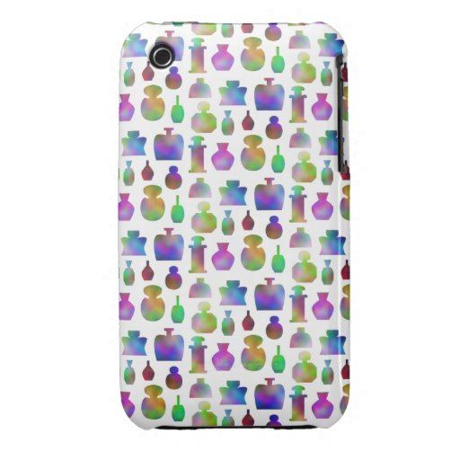 Bright and Colorful Perfume Bottles Pattern. iPhone 3 Covers