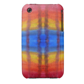 Bright and Colorful. Red, Blue and Yellow Pattern. iPhone 3 Cover