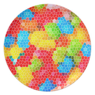 Bright and Colorful Unique Abstract Pattern Plate